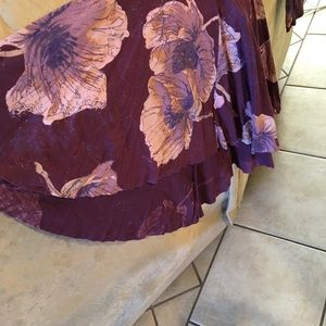 Free People Tops - Free People Birds of Paradise Wine Color Top
